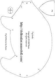 o. Anleitung, nur Schnittmuster für Schwein