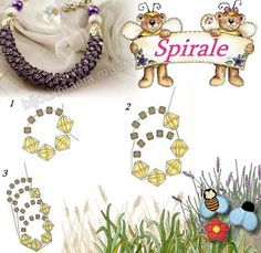 Beaded chain spirale