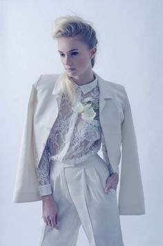 c7df9ad17a Alternative wedding outfits. Wedding day suits for brides.  bridalsuit   bridalwaistcoat  bridaltrousers