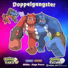 Congratulations, your Dualinquent has evolved into Doppelgangster! Doppelgangster evolves from Dualinquent when traded holding a Sacred… Pokemon Show, Oc Pokemon, Pokemon Fake, Ghost Pokemon, Pokemon People, Pokemon Pokedex, Pokemon Comics, Pokemon Memes, Pokemon Fan Art