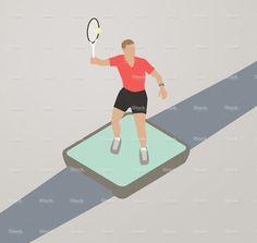 Cardio Tracker Illustration stock vector art 83209129 - iStock