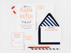 sneak peek of new custom wedding suite from fig. 2 design studio (via oh so beautiful paper)