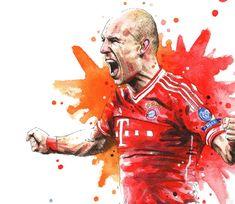 Voir plus Art Print affiches de Football avec le FC Bayern Munich. https://www.etsy.com/shop/NazarArt/search?search_query=Bayern  Ces affiches de tirages dArt mur seront parfaits pour votre design dintérieur, aussi bien en ce qui concerne la décoration des cafés et des pubs. Idéal pour lencadrement ou montage mural. Cest le plus beau cadeau pour petit ami, petite amie, un ami.  IMPRIMER LES INFORMATIONS • Dimensions : 11, 7 × 16, 5 pouces (format A3) • Imprimés d...