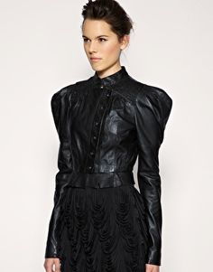 Image 1 of ASOS BLACK Victorian Smocked Jacket