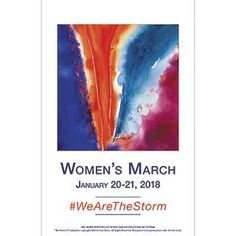 #WeAreTheStorm downloadable at http://www.sarasteele.com/womens-march-posters.html