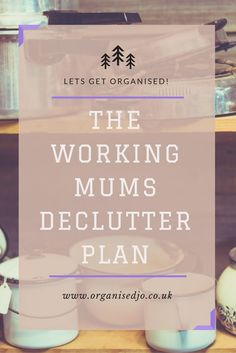 If the idea of starting to declutter the house is overwhelming, then check out my daily 15 minute decluttering plan to help busy/working mum's