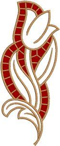 Cutwork embroidery designs - 10559 Chestnut leaf cutwork lace embroidery