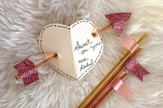 SUPER cute!  Honey Stick Valentine from Smile and Wave