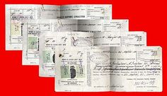 10081 Greece 1930 1934 Payslips with 5 Different Revenue Stamps | eBay