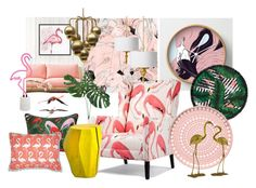 """Flamingo"" by paulla-89 on Polyvore featuring interior, interiors, interior design, dom, home decor, interior decorating, LaMont, iittala, F.R.S For Restless Sleepers i Sunnylife"