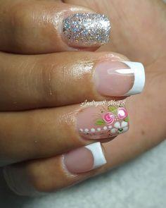 Pretty Nail Art, Cute Nails, Hair Beauty, Erika, Instagram Posts, Floral, Nail Arts, Enamels, Amor