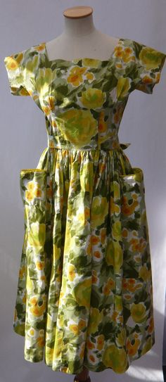 1950s Horrockses Dress by MayCottagePrints on Etsy, $250.00