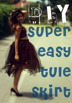 Sweet Simple and Stylish : DIY no sew Tule Skirt