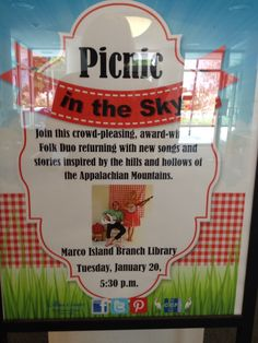 Short Report from Marco Island, Florida: Here goes the first of six Naples concerts! Setting up now, come over to the Marco Island Library if you're tired of this cloudy day and hear some sunshine at 5:30.