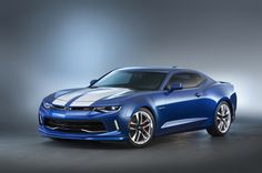 Chevy has revealed the 2016 Chevrolet Camaro Hyper concept at the 2015 SEMA Show in Las Vegas. Chevrolet Camaro, Corvette, Chevrolet Captiva, Blue Camaro, Camaro Ss, Best Muscle Cars, American Muscle Cars, My Dream Car, Dream Cars