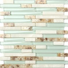 TST Glass Conch Beach style Mother Of Pearl Tile Resin Glass Tile Aqua White Stone Marble Tile Kitchen Backsplash Deco Bathroom Wall Art Glass Tile, Bathroom Wall Tile, Beach House Decor, Bathroom Wall Decor, Marble Tile Backsplash Kitchen, Marble Tile Kitchen, Remodel, Glass Mosaic Tiles, White Stone Tiles