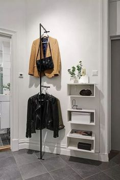 Favorite Studio Apartment Storage Decor Ideas And Remodel - master closet left side wall - Hallway Inspiration, Interior Inspiration, Small Apartments, Small Spaces, Small Rooms, Gravity Home, Scandinavian Apartment, Scandinavian House, Sweet Home