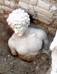 Roman bust from the 2nd century AD hailed as the most important archaeological find of the last 50 years in Apollonia, Albania.