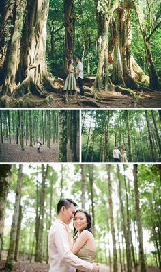 Love this photo shoot in the forest of Bali
