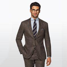 Daily pick: The Havana brown plain. Mens Fashion Suits, Mens Suits, Men's Fashion, Business Casual Men, Men Casual, Brown Suits For Men, Havana Brown, Formal, Suit Jacket