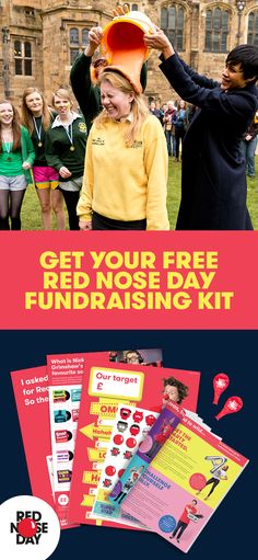 Red Nose Day is back! Join in and make the world a better place on Friday, 24th March. Order a free Fundraising Kit, full of ideas, tips and materials that will make this your best fundraising year yet. Whether you host a bake sale, get sponsored to dye your hair or bring a swear jar to work – there's sure to be an idea that suits you. Get your kit today on the Red Nose Day website.