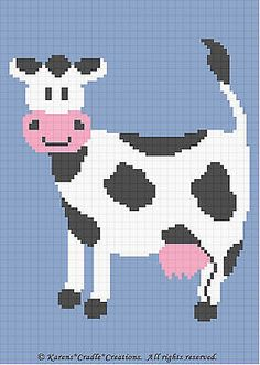 Crochet-Patterns-CUTE-COW-afghan-pattern-EASY