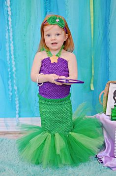 DIY Little Mermaid and Flounder Costumes | Flounder costume, Ariel ...
