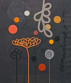 Baby Flower Print by Rachel Castle. Hand Screen Printed Acrylic on Montvaal paper. 1 of 25 prints. Modern Art, Contemporary Art, Large Artwork, The Design Files, Hand Coloring, Brown And Grey, Collage Art, Home Art, Screen Printing