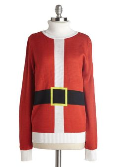 Just Be Claus Sweater, #ModCloth @Kellan Hyde , what do you think? I also really love the elf one. I will need a hat with that one.