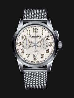 Limitierte Serien - Breitling Transocean Chronograph 1915 – Historische Uhr