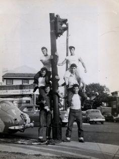 Corona Dukes greaser gang - Brooklyn 1950's.
