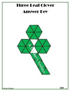 """Patrick's Puzzles by A Thinker's Toolbox includes 5 St. Patrick's Puzzles; pot of gold, leprechaun hat, three leaf clover, rainbow, and the word """"luck"""". Math Resources, Math Activities, Classroom Resources, St Patricks Day Quotes, Seeing Quotes, Three Leaf Clover, Fall Cleaning, Thing 1, Pot Of Gold"""