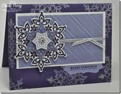 Festive Flurry, Stampin' Up!, Stamp-a-Stack,  Illuminate Glimmer Watermark Ink pad