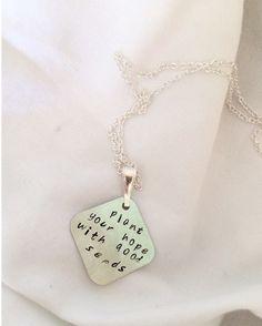 Hand-stamped Custom Quote Angular Necklace by SamanthaButkus