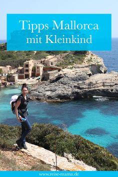 Mallorca mit Kleinkind – Highlights von unserem Familienurlaub Mallorca. Wo wohnt man im Urlaub mit Kind am besten auf Mallorca? Welche Strände auf Mallorca sind am schönsten? Welche Ausflüge haben wir mit Kind auf Mallorca gemacht? Kann man mit Kleinkind auf Mallorca wandern? Wir erzählen von unseren Erfahrungen und geben Tipps für den Familienurlaub auf Mallorca. Beautiful Beaches, Highlights, Places, Outdoor, Ibiza, Baby, Hotels, Steamer Trunk, Beach Tips