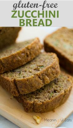Lightly sweet, moist and delicious! via Gluten-Free Zucchini Bread! Lightly sweet, moist and delicious! Best Gluten Free Recipes, Gluten Free Cooking, Gluten Free Desserts, Gluten Free Junk Food, Healthy Recipes, Healthy Desserts, Gluten Free Zucchini Bread, Zucchini Bread Recipes, Keto Bread