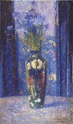 Henri Martin - Vaso de flores, 1910 http://www.wikiart.org/en/henri-martin/white-flowers-in-the-field#supersized-artistPaintings-282383