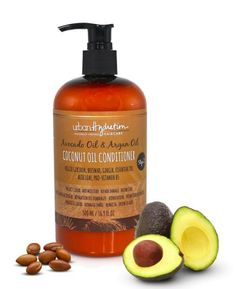 Natural ingredients work to protect hair while adding weightless shine, moisture, and definition. Coconut Oil Conditioner, Deep Conditioner, Argan Oil And Coconut Oil, Indian Hair Care, Indian Hairstyles, Avocado Oil, Protective Hairstyles, Aloe, Moisturizer