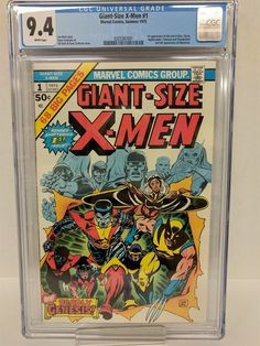 GIANT SIZED X-MEN #1 CGC 9.4  FIRST APPEARANCE OF NEW X-MEN  WHITE PAGES!