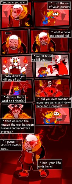 short Underfell comic thing by WanderingRanger128 Undertale