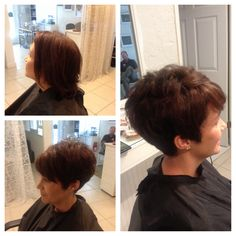 Cute short hair make over...perfect cut for thick, coarse hair
