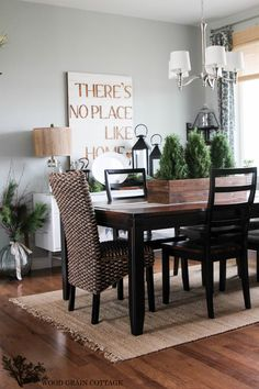 Dining Room by The Wood Grain Cottage