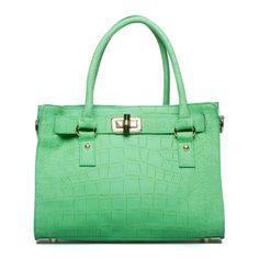 A classic, lady-like bag in a pretty green to add a pop of color to your spring/summer outfits. This will make it's debut with my Easter dress!