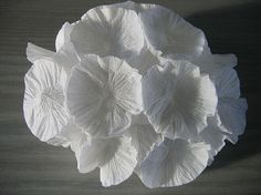 folded tissue paper by Polly Verity