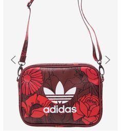 Adidas Women's Originals Red Airliner Clutch Cross Body Bag Mother's Day Gifts