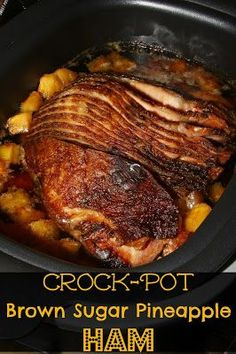 For the Love of Food: Crock-Pot Brown Sugar Pineapple Ham for the Holidays