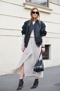 How to wear a bomber jacket and look chic
