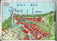 Kolberg Stadtplan 1931