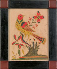Fraktur by Pennsylvania folk artist David Y. Ellinger
