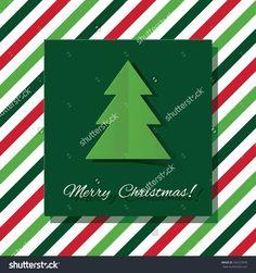 Stylish Christmas Card In Minimalistic Style. Vector Illustration. - 163127978 : Shutterstock